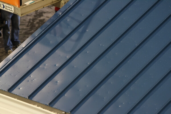 hail damage on standing seam metal roof