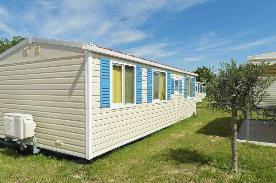 A newly built mobile home