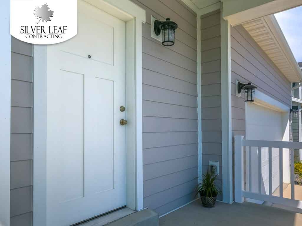 The attractive entryway to a residential home.